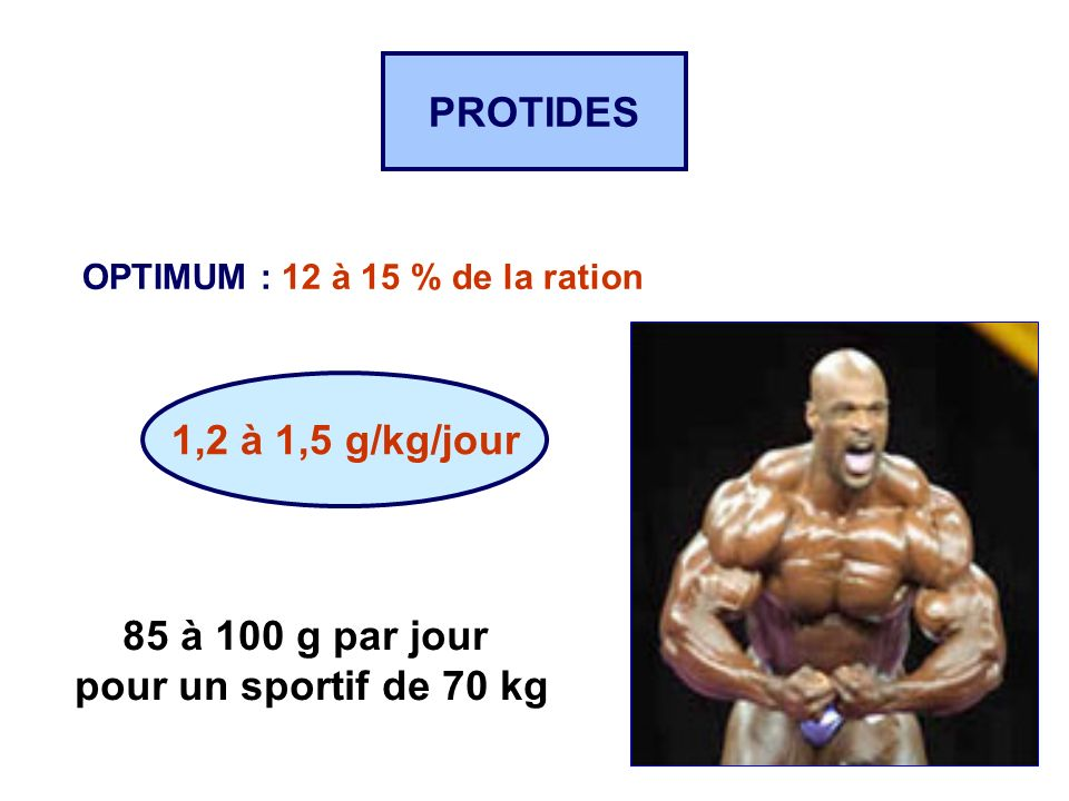 PROTIDES 1,2 à 1,5 g/kg/jour 85 à 100 g par jour