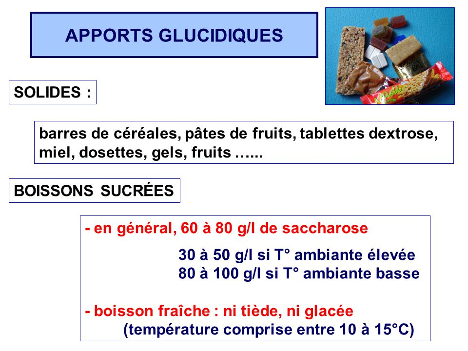 APPORTS GLUCIDIQUES SOLIDES :
