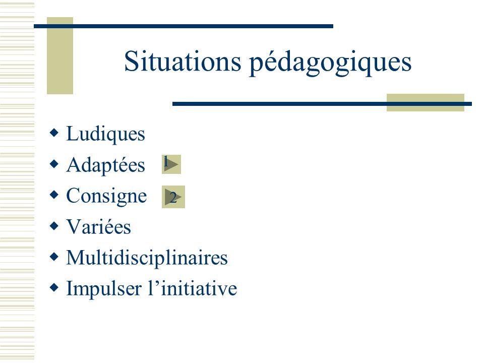Situations pédagogiques