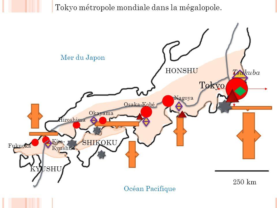 Tokyo métropole mondiale dans la mégalopole.