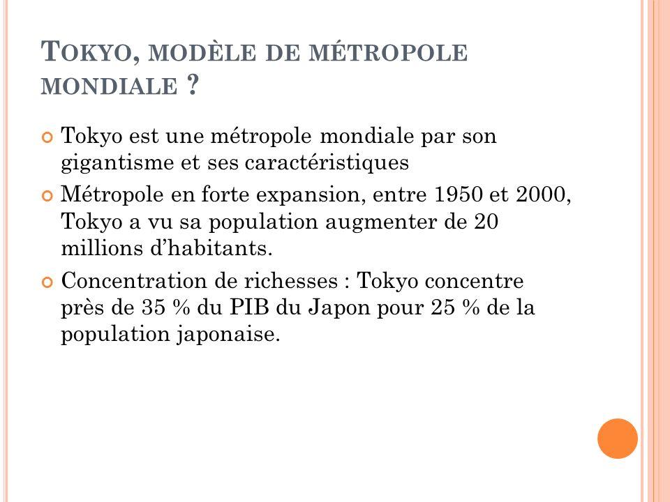 Tokyo, modèle de métropole mondiale