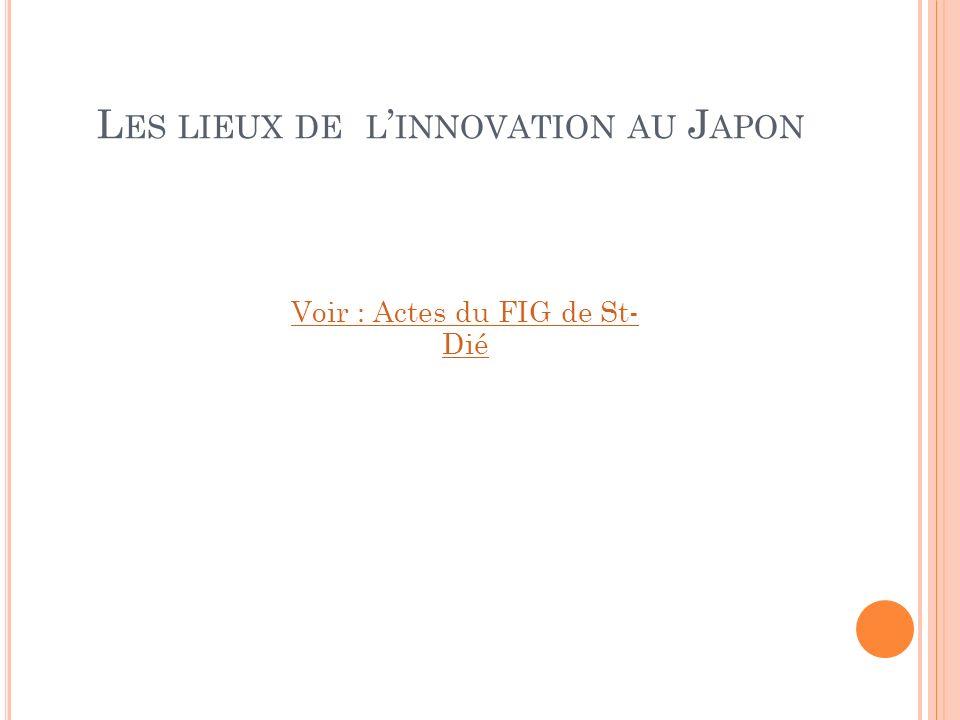 Les lieux de l'innovation au Japon