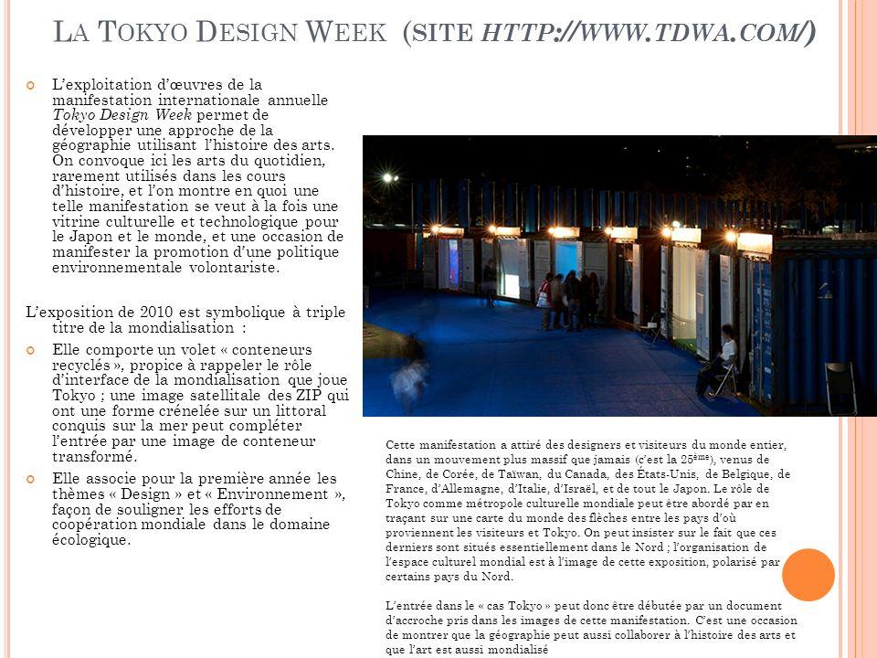 La Tokyo Design Week (site http://www.tdwa.com/)
