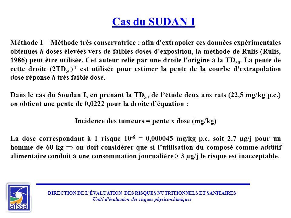 Cas du SUDAN I