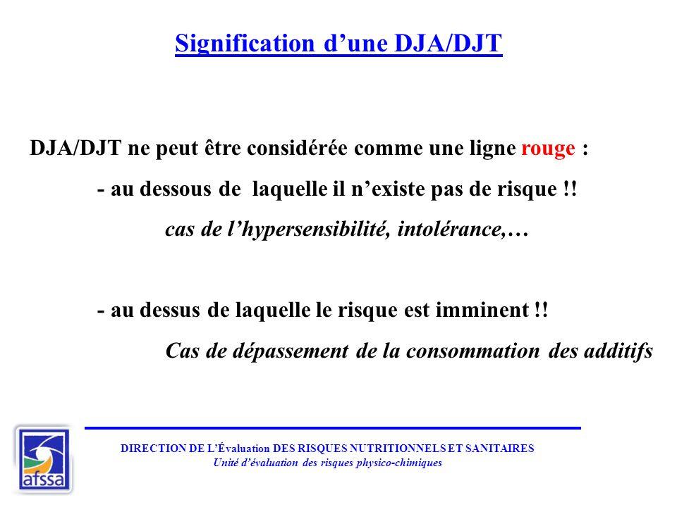 Signification d'une DJA/DJT