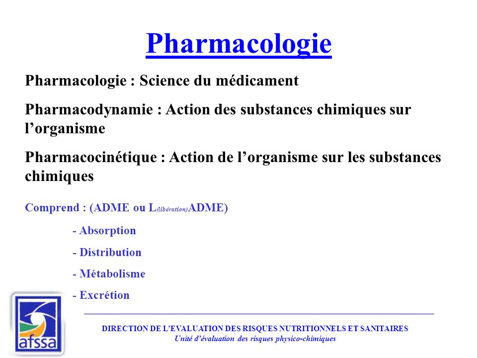 Pharmacologie Pharmacologie : Science du médicament
