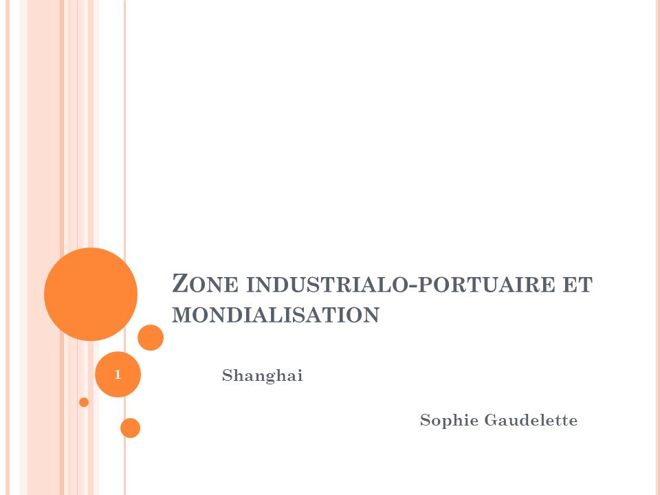 Zone industrialo-portuaire et mondialisation