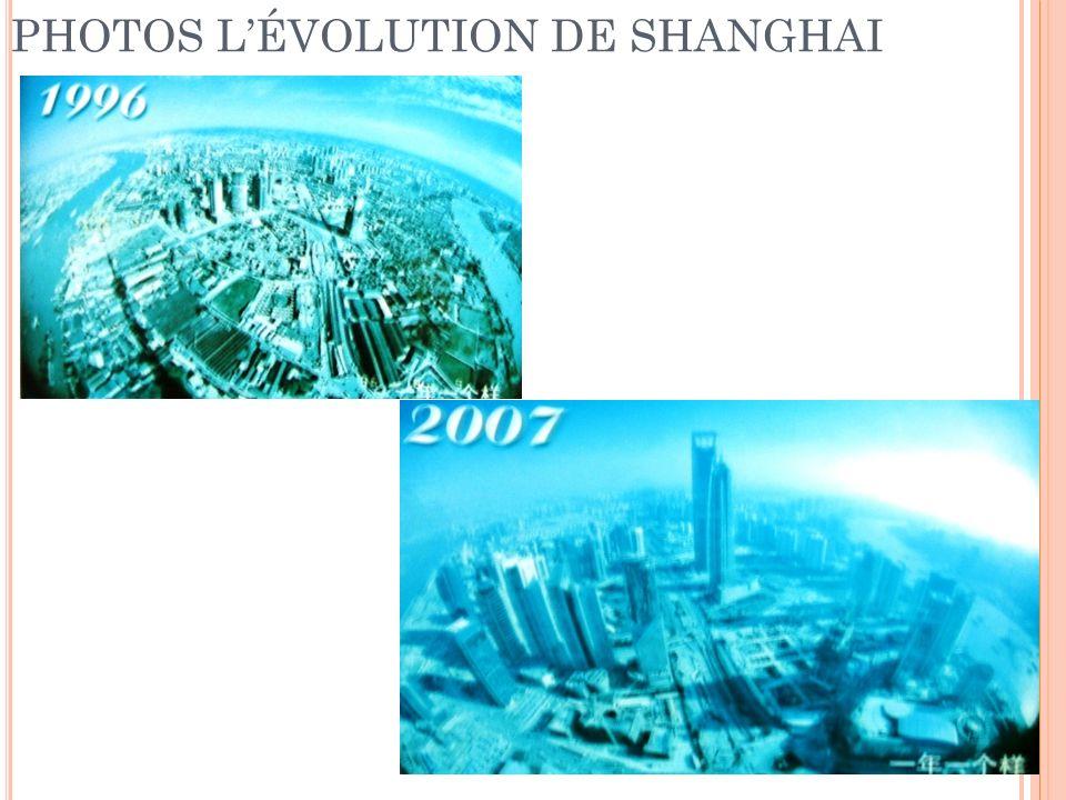 PHOTOS L'ÉVOLUTION DE SHANGHAI