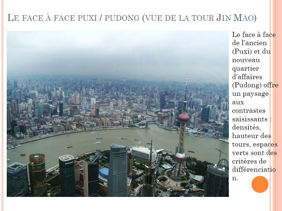 Le face à face puxi / pudong (vue de la tour Jin Mao)
