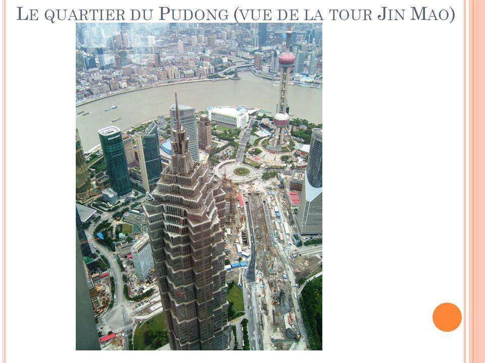 Le quartier du Pudong (vue de la tour Jin Mao)