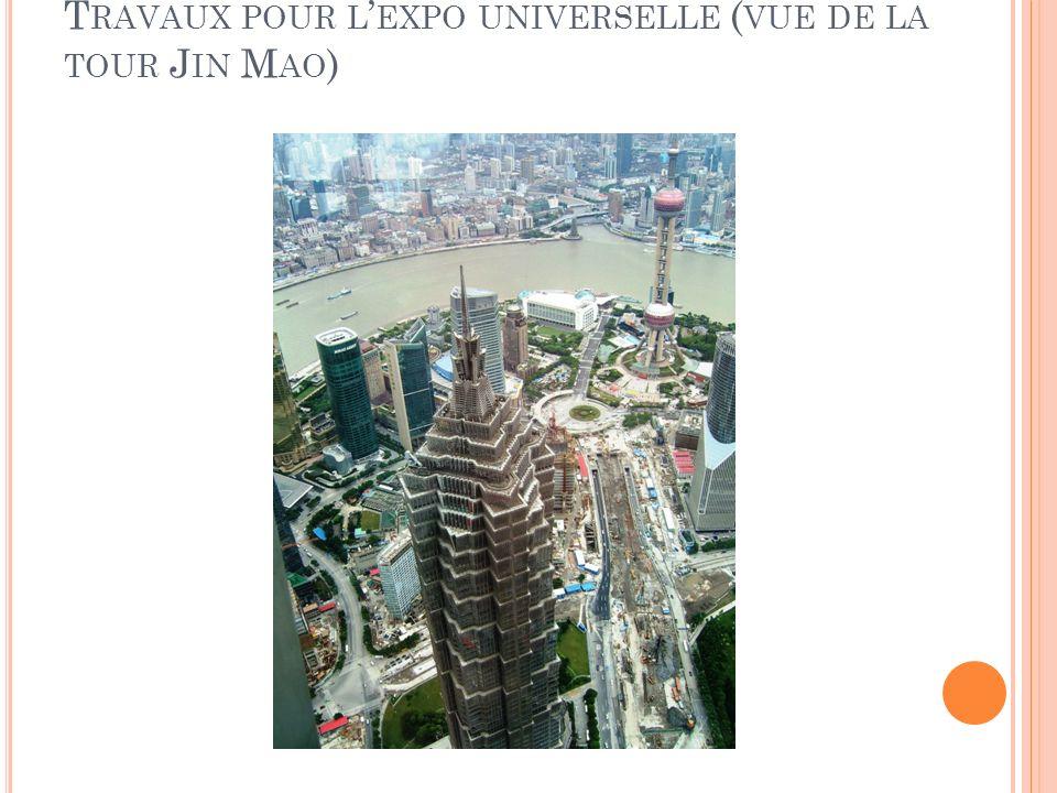 Travaux pour l'expo universelle (vue de la tour Jin Mao)