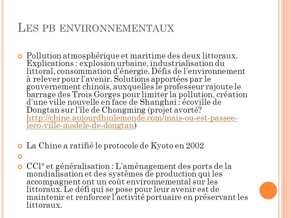 Les pb environnementaux