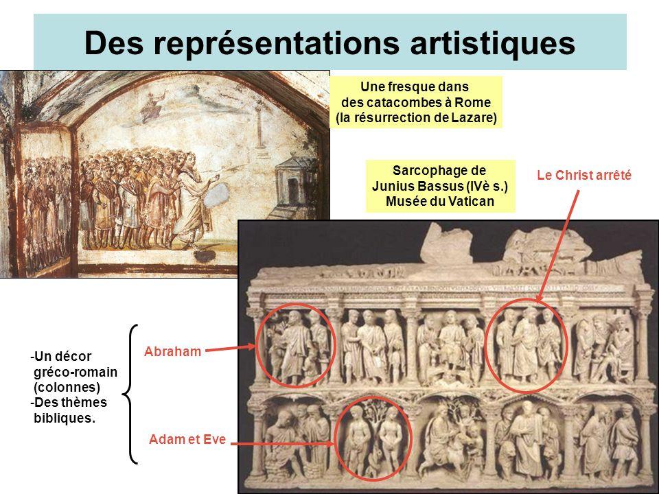 DES SYMBOLES (sarcophages chrétiens)