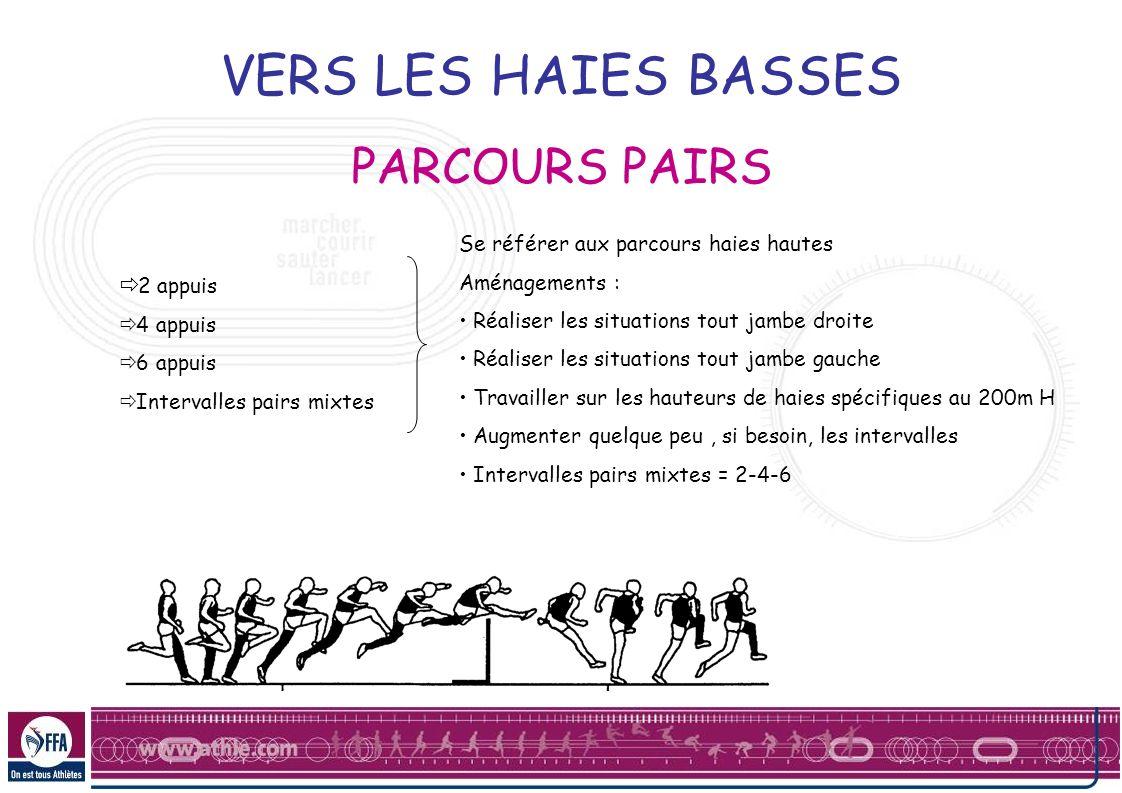 VERS LES HAIES BASSES PARCOURS PAIRS 2 appuis