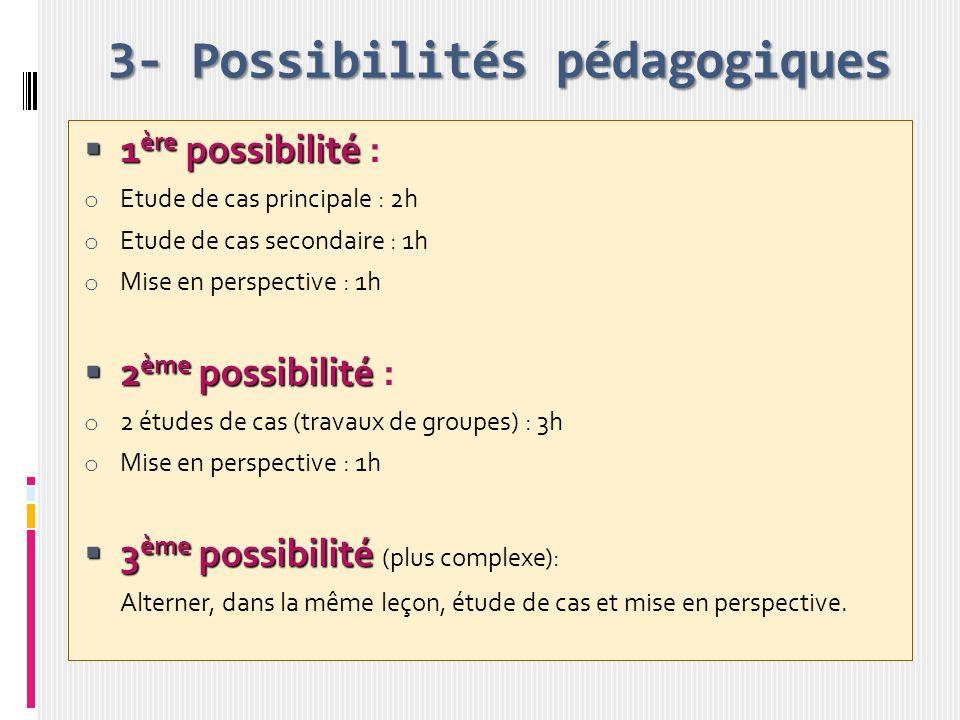 3- Possibilités pédagogiques