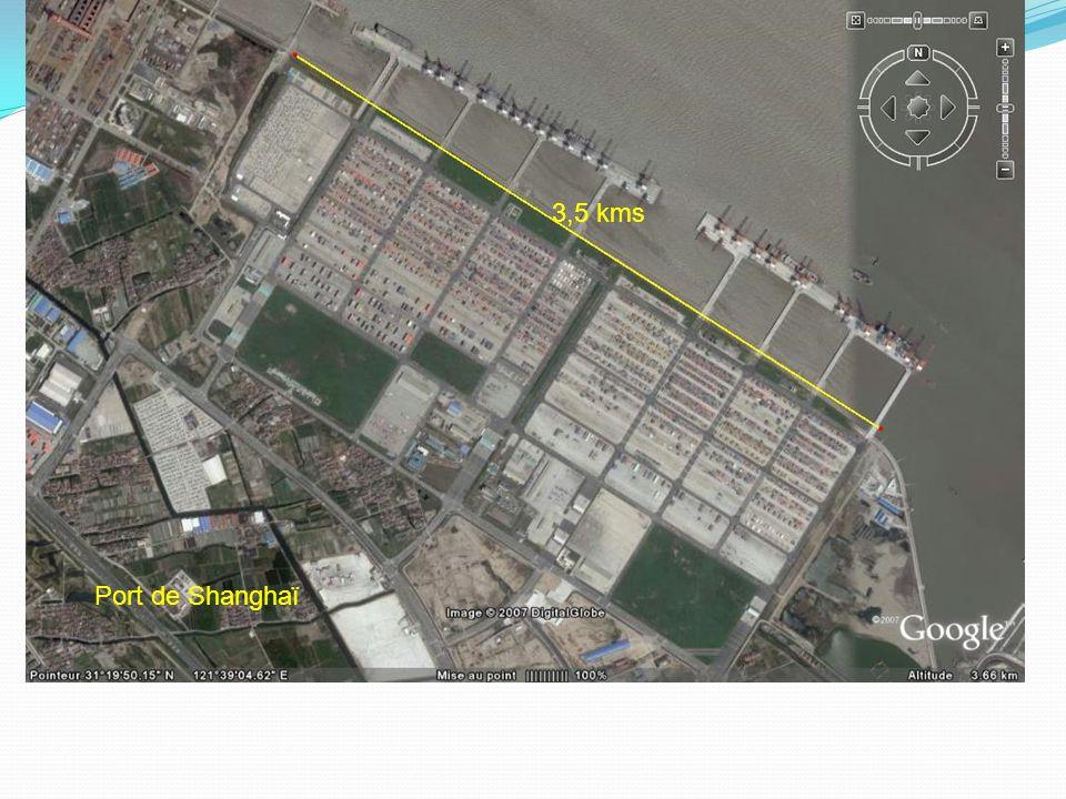 3,5 kms Port de Shanghaï