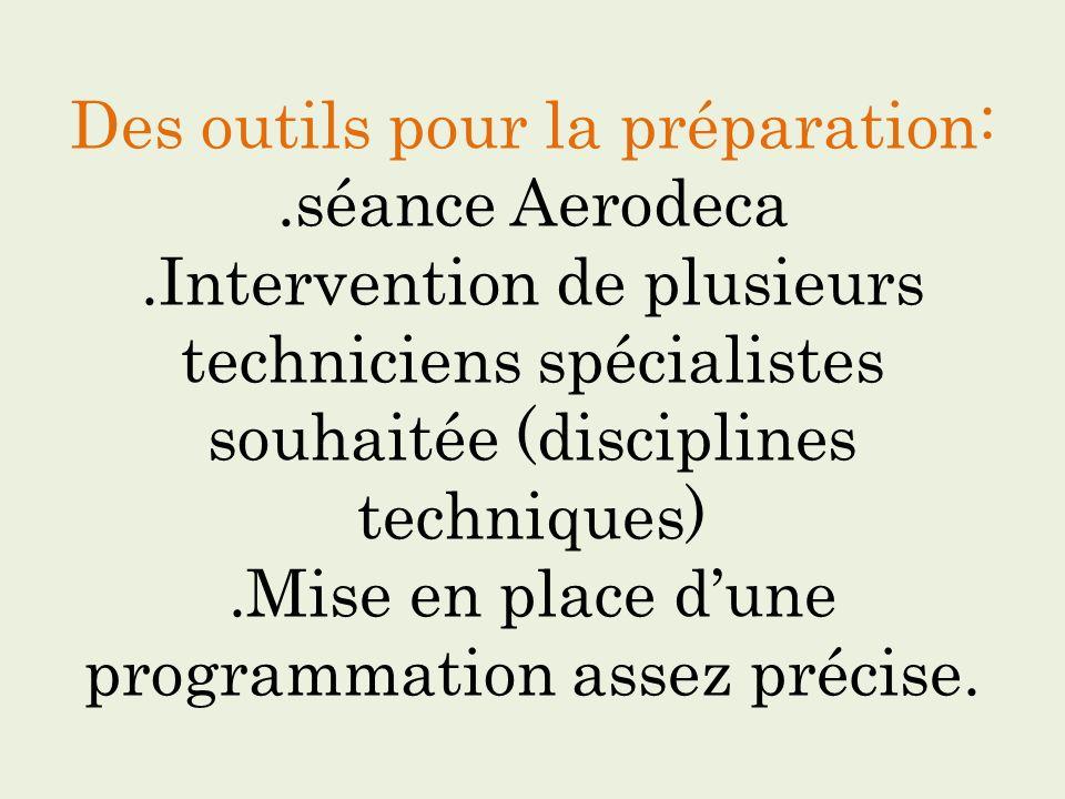 Des outils pour la préparation:. séance Aerodeca