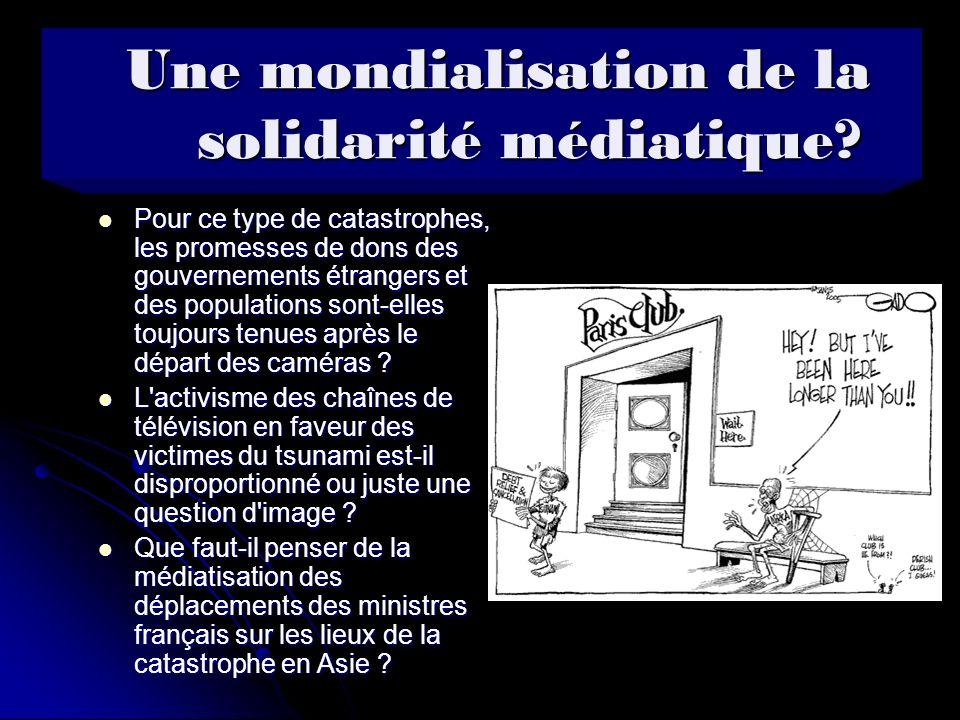 Une mondialisation de la solidarité médiatique