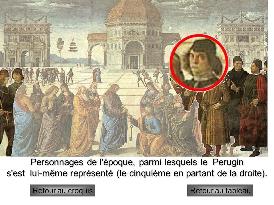 Personnages de l époque, parmi lesquels le Perugin