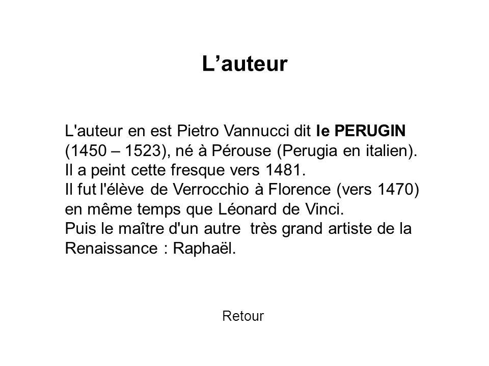 L'auteur L auteur en est Pietro Vannucci dit le PERUGIN
