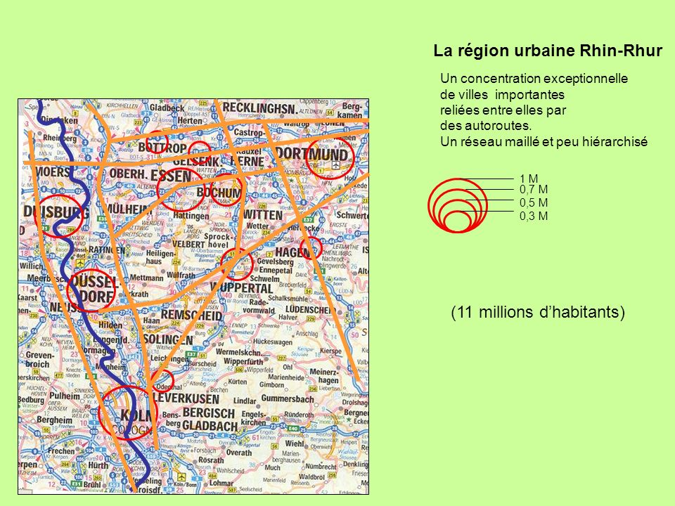 La région urbaine Rhin-Rhur