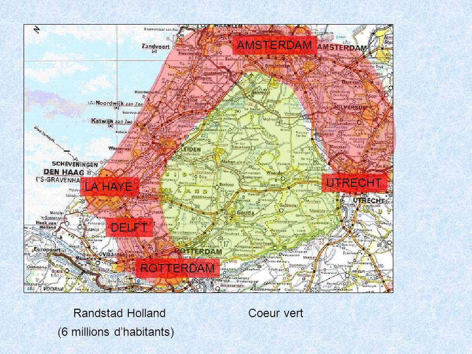 Randstad Holland AMSTERDAM LA HAYE UTRECHT ROTTERDAM DELFT Coeur vert (6 millions d'habitants)