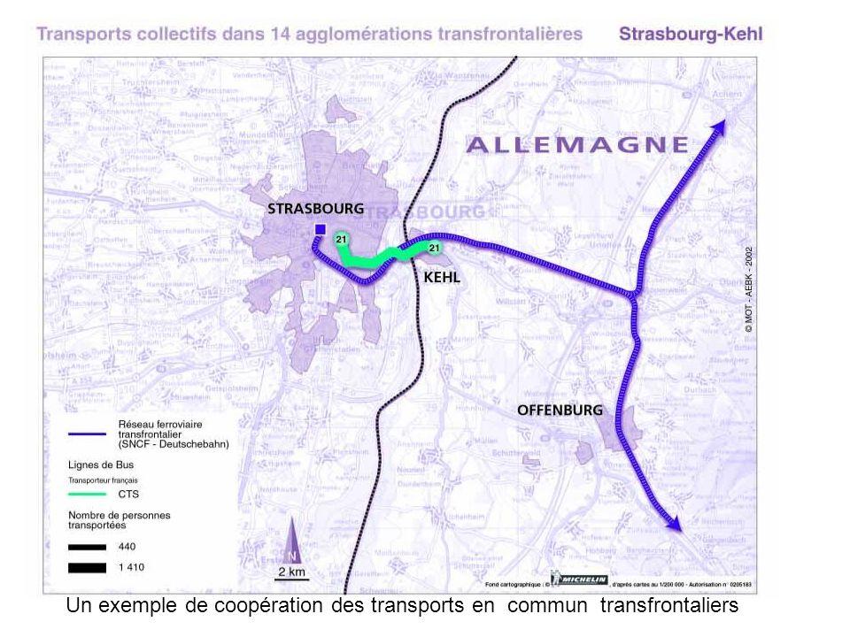 Un exemple de coopération des transports en commun transfrontaliers