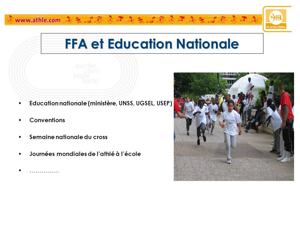 FFA et Education Nationale