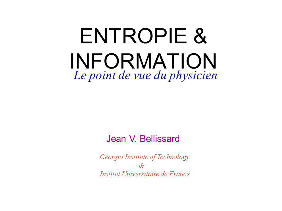 ENTROPIE & INFORMATION