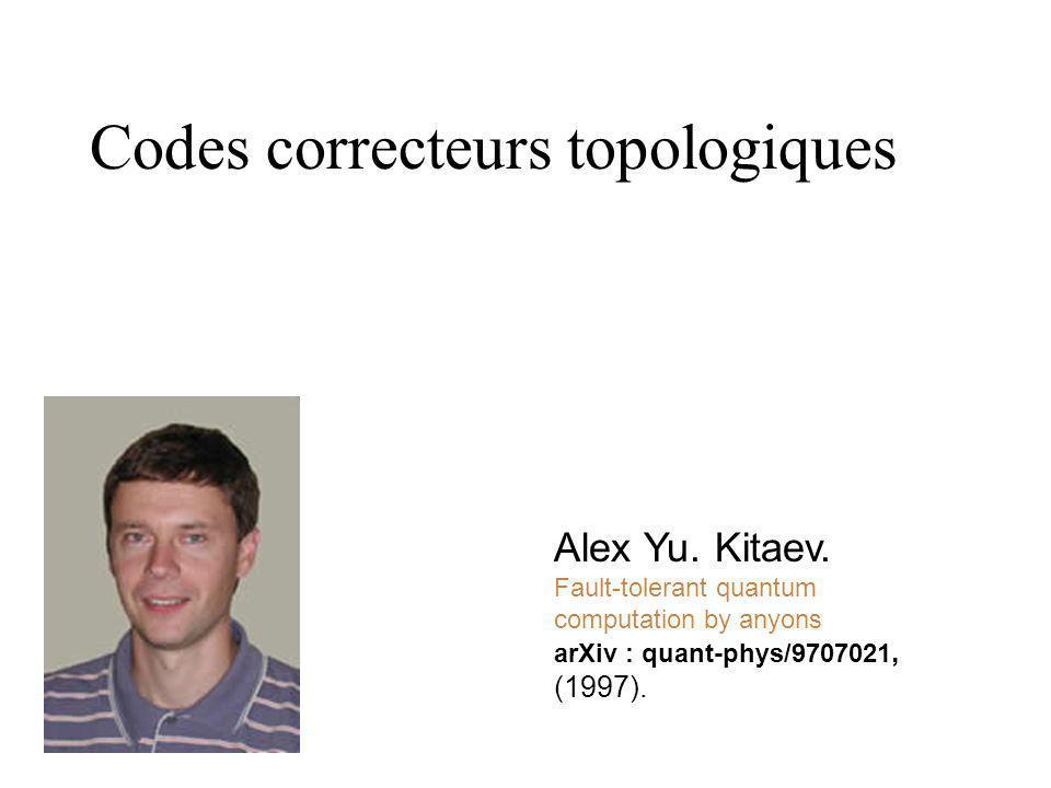 Codes correcteurs topologiques