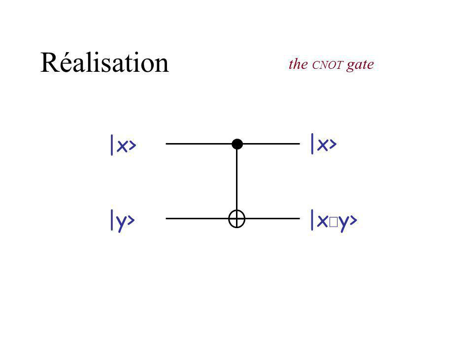 Réalisation the CNOT gate |x> |x> |y> |xÅy>