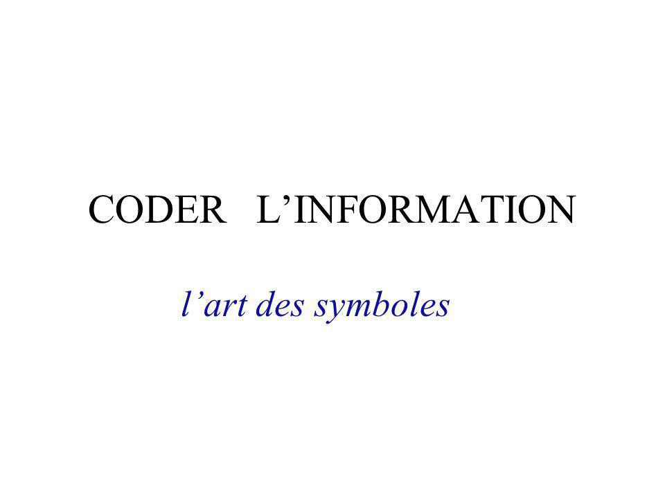 CODER L'INFORMATION l'art des symboles