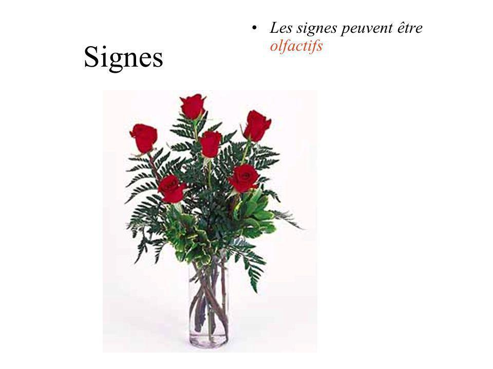 Les signes peuvent être olfactifs