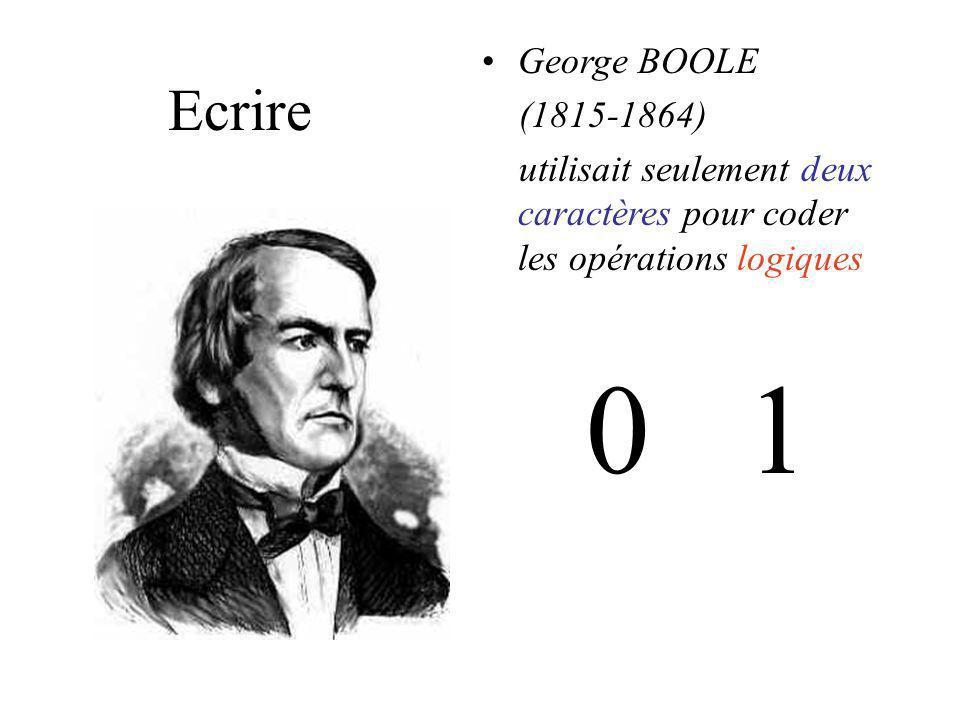 0 1 Ecrire George BOOLE (1815-1864)