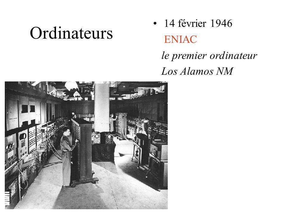 14 février 1946 ENIAC le premier ordinateur Los Alamos NM Ordinateurs