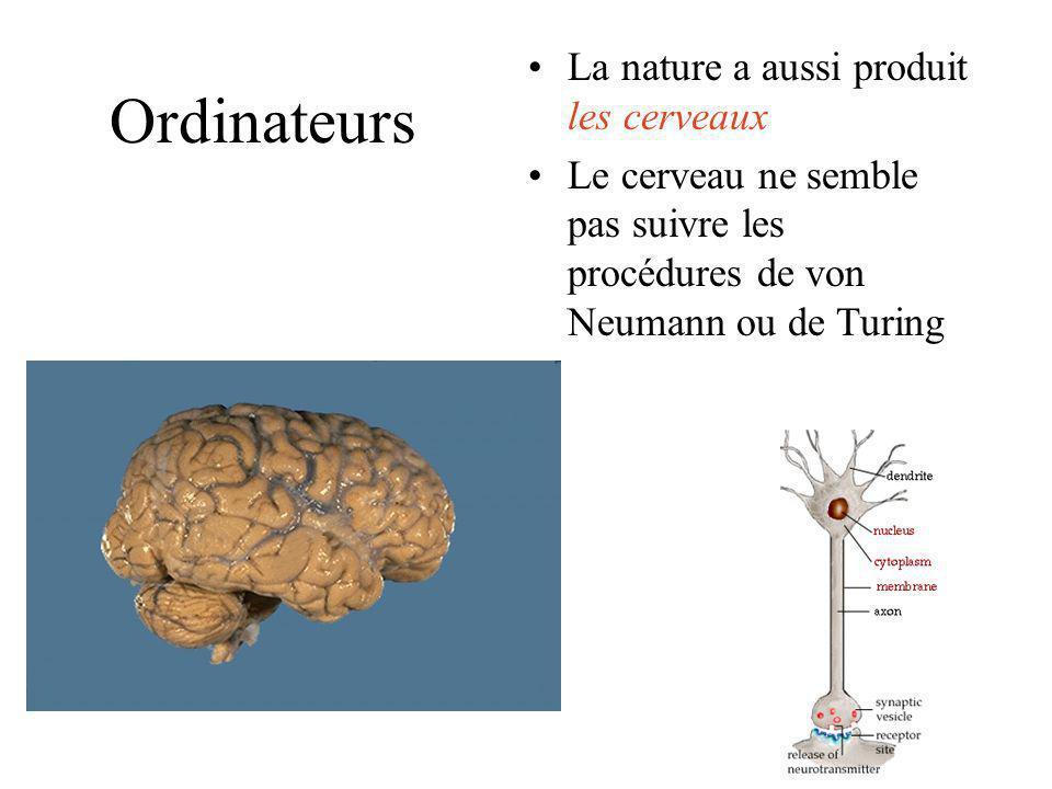Ordinateurs La nature a aussi produit les cerveaux