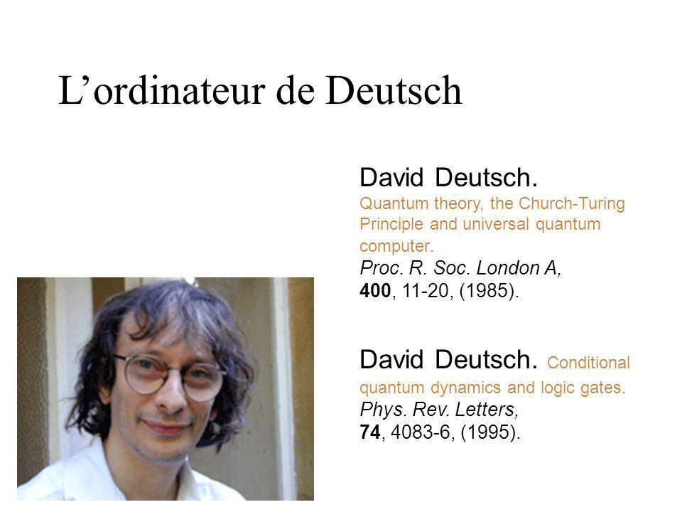L'ordinateur de Deutsch