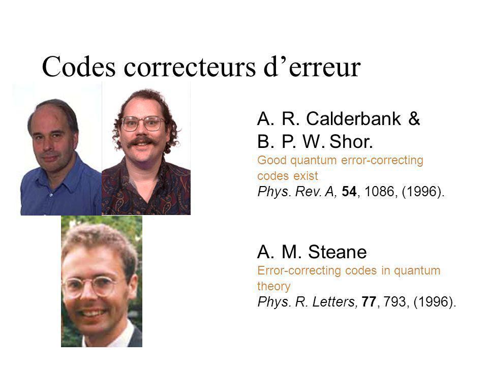 Codes correcteurs d'erreur