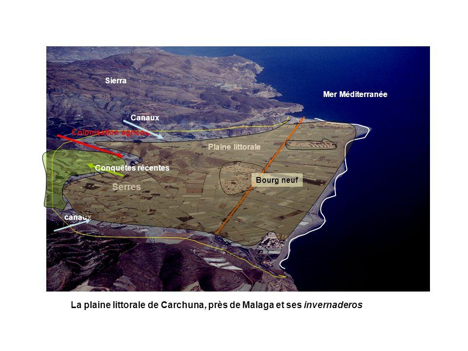 La plaine littorale de Carchuna, près de Malaga et ses invernaderos