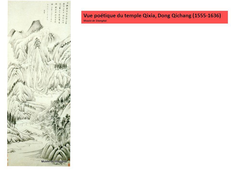 Vue poétique du temple Qixia, Dong Qichang (1555-1636)