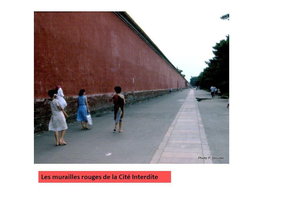 Les murailles rouges de la Cité Interdite