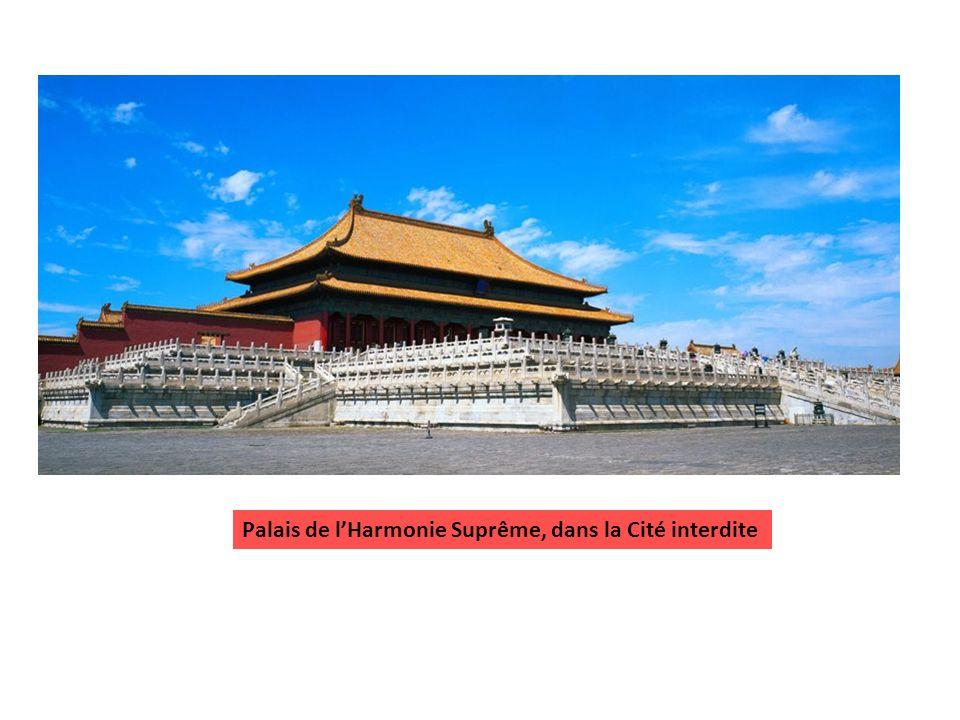 Palais de l'Harmonie Suprême, dans la Cité interdite