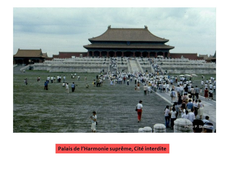 Palais de l'Harmonie suprême, Cité interdite