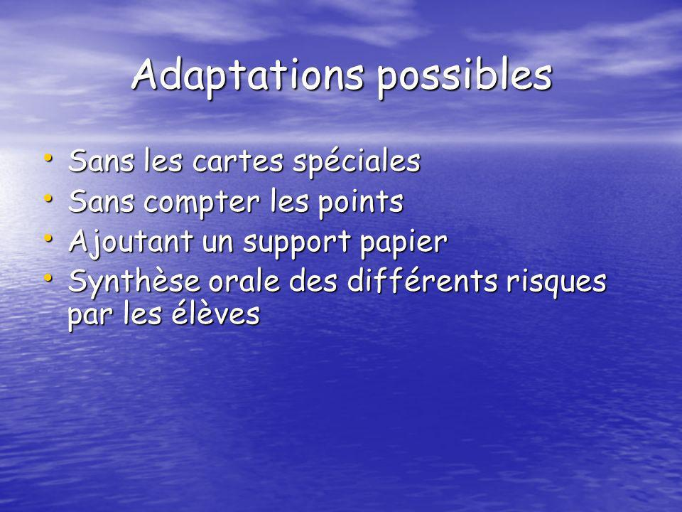 Adaptations possibles