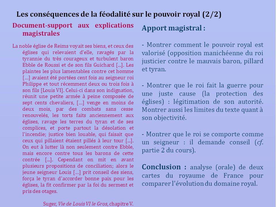 Les conséquences de la féodalité sur le pouvoir royal (2/2)