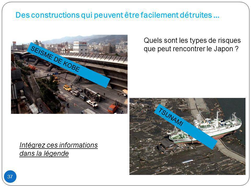 Des constructions qui peuvent être facilement détruites …