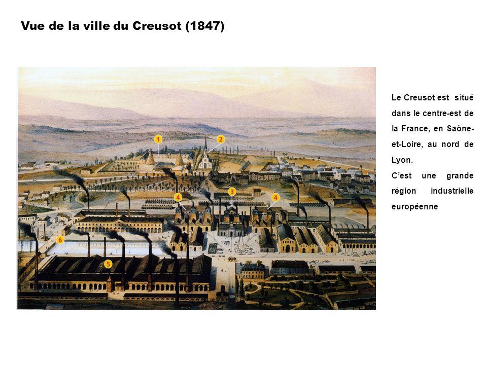 Vue de la ville du Creusot (1847)