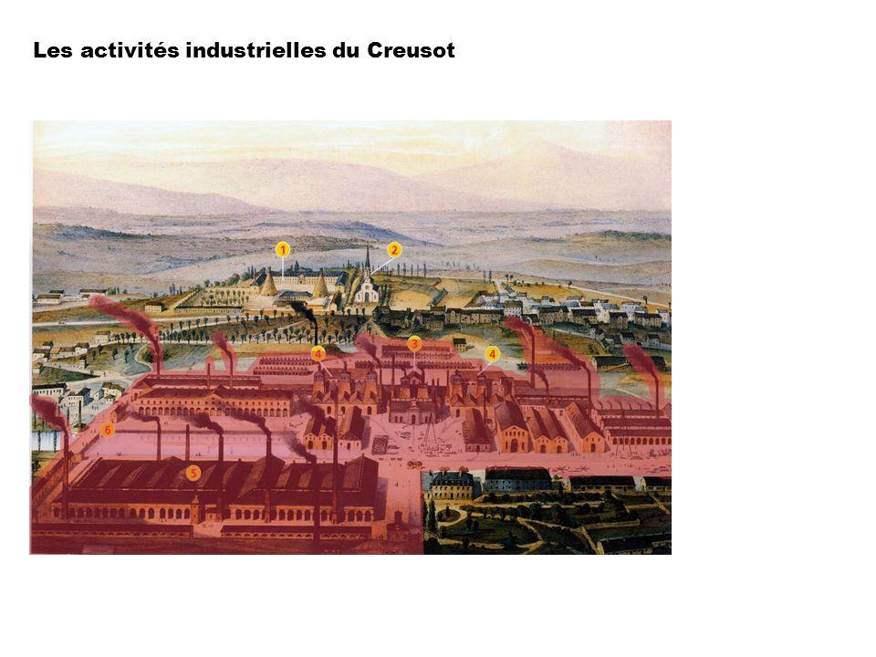 Les activités industrielles du Creusot