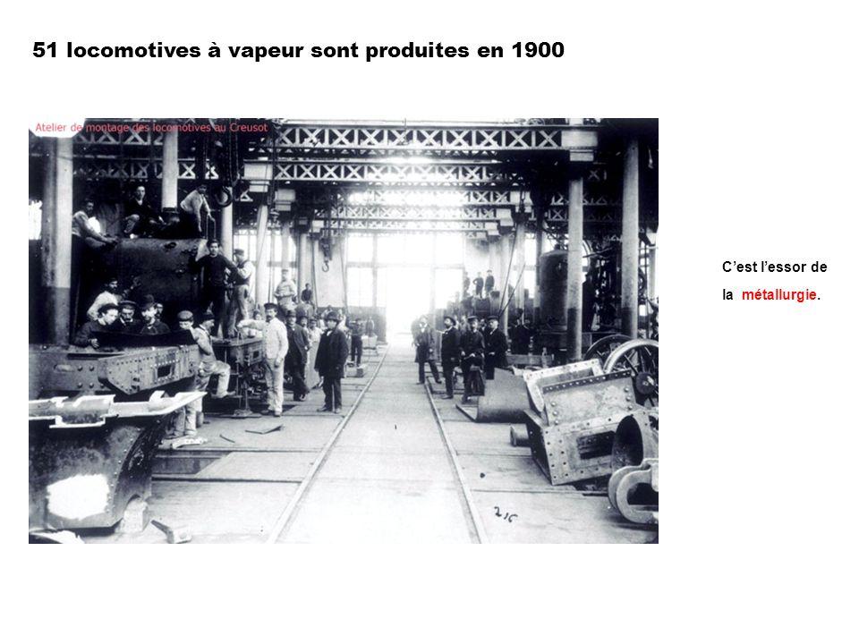 51 locomotives à vapeur sont produites en 1900