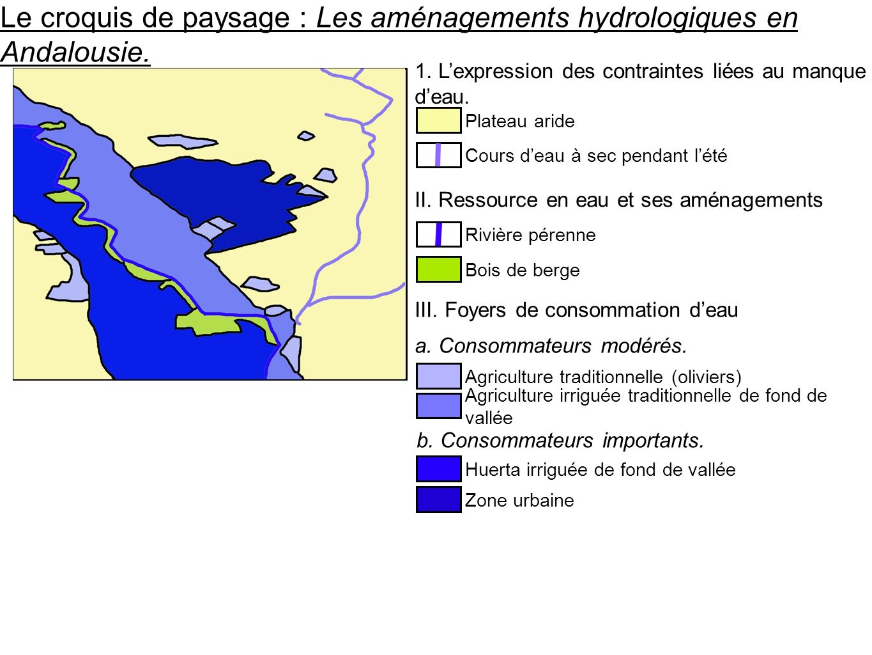 Le croquis de paysage : Les aménagements hydrologiques en Andalousie.